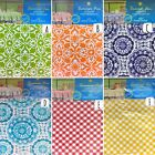 Umbrella vinyl tablecloth flannel backing with zipper closure Elrene USA seller