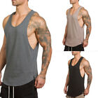 Fashion Sleeveless Muscle T-shirt Mens Slim Fit O-Neck Casual Tops Blouse