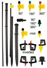 automatic irrigation Sprinkler heads and support stakes,garden watering,