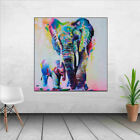 Art Oil Painting Impressionism Elephant Painting In Acrylic on Cavans For Home