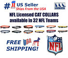 NFL Cat Collar - Licensed, Adjustable, Heavy-duty with Jingle Bell. 32 NFL Teams $10.49 USD on eBay