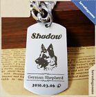 Deep Engraved Rectangle Personalized Stainless Steel Pet ID