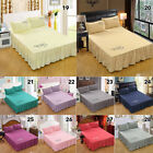 New Bed Skirt Fitted Sheet Bedspread Dust Ruffle Drop Cover Twin Full Queen King image