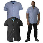 Duke D555 Mens Big King Size Dwight Cotton Casual Summer Short Sleeved Shirts