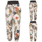 Kk Pattern Kate Harem Pants Casual Floral Trousers Leaves Womens Comfortable