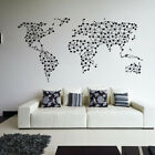 Abstract World Map - Join the Dots - Wall Art Sticker