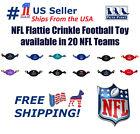 NFL Flattie Football Toy - Licensed, Soft-Plush durable Rope Toys for Dogs, Cats $10.49 USD on eBay