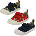 Clarks Boys Doodles Halcy High 18 Rip Tape Strap Canvas Pumps