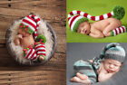 Newborn Baby Elf Crochet Knit Costume Photo Photography Prop Outfits