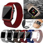 Milanese Stainless Steel iWatch Band Strap+Cover Case Apple Watch Series 4/3/2/1 image