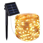 Solar Powered 10M/33FT 100 LED Copper Wire Outdoor String Fairy Lights Chain