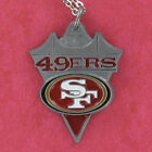 San Francisco 49ers Necklace - Pewter Charm on Chain NFL Pro Football Logo NEW on eBay