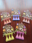 TATTERED LACE Die Cuts 3d VINTAGE BOTANICALS  CHERRY BLOSSOM  5 colour 1 of each