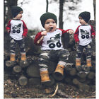 2Pcs Toddler Infant Kid Baby Boys Camouflage Clothing T-shirt Tops+Pants Outfits