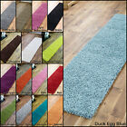 MODERN THICK 5cm DEEP PILE LONG BLUE GREEN BLACK BROWN RED QUALITY RUNNER RUGS