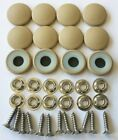 25 Dura Snap Upholstery Buttons Parchment Tan Choice Of Size And Screws