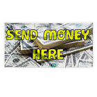 send money through ria - Send Money Here Outdoor Advertising Printing Vinyl Banner Sign With Grommets