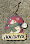 Wood Hanging Santa/Snowman Christmas Ornaments - 4 different Ornaments
