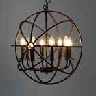 Retro Industrial Chandelier Pendant Lamp Light Ceiling Fixture Orb Sphere Cage