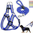 Внешний вид - Reflective Dog Harness Step-in Nylon Dog harness with leash Set XS S M L Safety