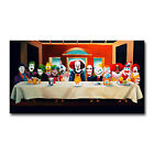 Clowns Last Supper Art Canvas Poster 8x14 12x21 inch