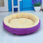 Soft Flannel Pet Dog Puppy Cat Kitten Pig Round Warm Bed Home House Cozy Nest