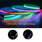 Flexible USB Wired RGB LED Strips Light Adhesive Lamp For PC Computer Case 5V EM