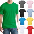 Mens Casual Short Sleeve Cotton Tee Crewneck Solid Top Undershirt Summer T-Shirt