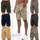 New Kruze Jeans Mens Cargo Shorts Casual Combat Work Camouflage Half Pant Camo