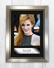 Bella Thorne A4 signed mounted photograph picture poster. Choice of frame.
