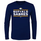 NHL Buffalo Sabres Long Sleeve Cotton T Shirt Top Youth Kids Fanatics $12.38 USD on eBay