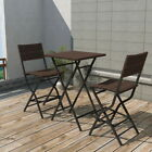 3PCS POLY RATTAN WICKER BISTRO SET OUTDOOR GARDEN FURNITURE COFFEE TBALE SEATS