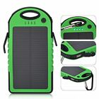 Waterproof 50000mAh 2USB Solar Power Bank 9LED Pack Battery Charger For Samsung