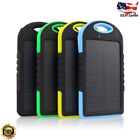 Waterproof 5000mAh 2USB Solar Power Bank 9LED Out Battery Charger For Samsung