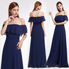 Ever-Pretty US Navy Blue Off Shoulder Bridesmaid Dresses Long Evening Gown 07171