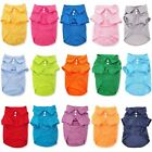 Dog Puppy Cat Polo Shirt T-Shirt Solid Clothes Apparel For SMALL Pet XXS XS S M