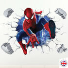 3D SPIDERMAN Wall Sticker Decal Vinyl Kids Boys Girls Mural Poster AVENGERS