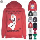CLEARANCE SALE Womens Christmas Ladies Olaf Build a Snowman  Minion Hoody Hoodie