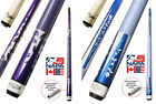 Champion Blue or Purple Pool Cue Stick with Low Deflection Shaft, Cuetec Glove $96.18 CAD on eBay