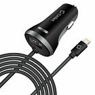 3.4 Amp Lightning Car Charger + USB Port for Apple iPhone X, 8 Plus, 7 Plus iPad