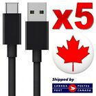 USB Type C 3.1 USB-C Sync Charger Charging Cable for Galaxy S8 LG G6 G5 (5 PACK) <br/> 5 PACK ✔️ From Canada ✔️ Premium Quality ✔️