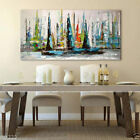 YA804 Large Hand-painted oil painting Abstract sailboat Modern Decor art