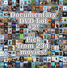 Documentary DVD Lot #2: DISC ONLY - Pick Items to Bundle and Save!