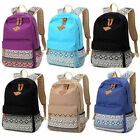 Canvas Printing Backpack Women School Bags Teenage Girls Female Bagpack 3Pcs/set