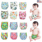 Washable Cloth Diapers + Inserts Adjustable One Size Baby Cloth Pocket Nappies