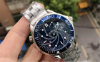 Luxury Stainless Steel Mens Professional James Bond 007 Blue Dial Mechanical Aut $105.36 CAD on eBay