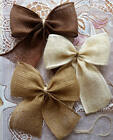 Внешний вид - Burlap Bow Rustic Wedding Bow Wreath Bow Decorative Bows