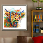 COLORFUL COW PRINT CANVAS PAINTING WALL ART LIVING ROOM BEDROOM HOME DECOR ORNAT