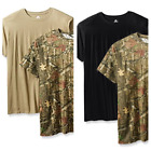 Mossy Oak Men's Crew Neck T-Shirts QTY 2 Pack S-2XL Variety New Camo/Solid