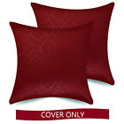Square Decorative Throw Pillow Covers, 2 pack, 18x18/20x20 inch by Ample Decor image